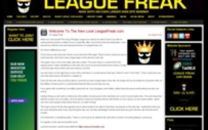 2,000,000 Visitors For The Glorious League Freaks Web Site