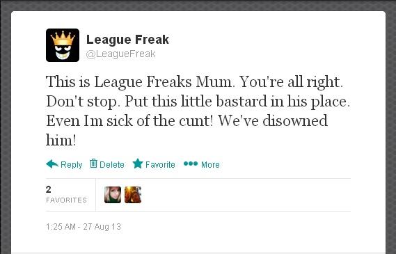 LeagueFreaksMumTweet1