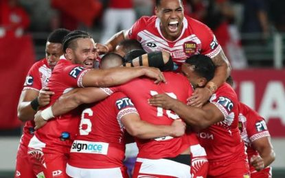 VIDEO: Highlights Of Tonga's Historic Victory Over Australia In Rugby Leagues Oceania Cup